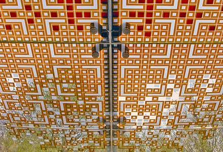 glass canopy design 'Sky Carpet'