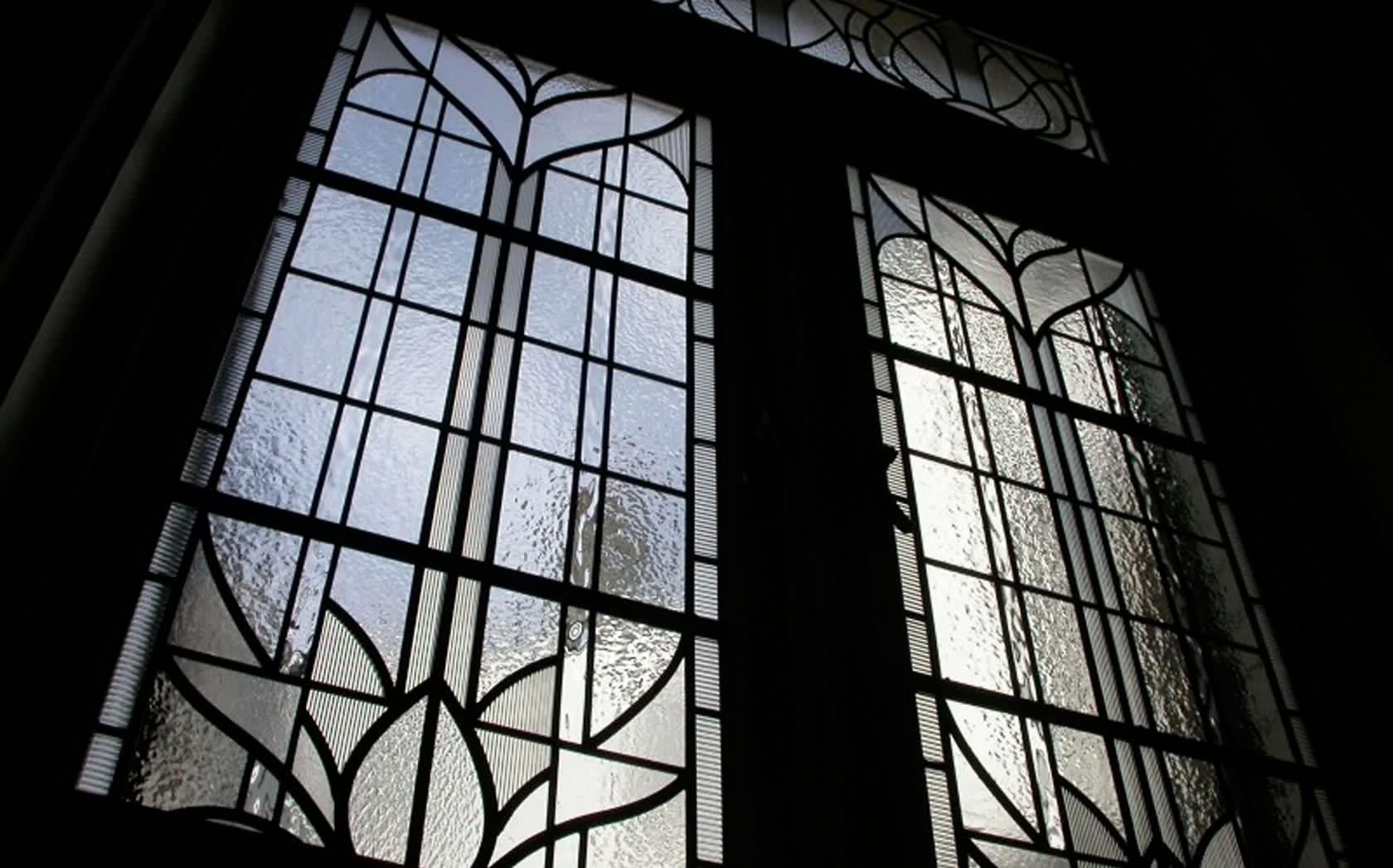 Monochrome Stained Glass Window