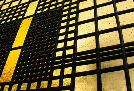 Modernist Stained Glass 'Albers'