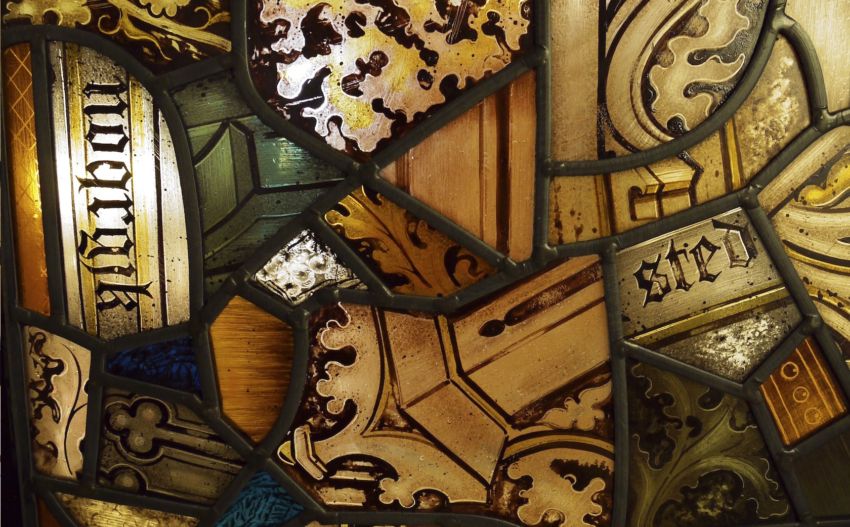 'Fragments' stained glass windows