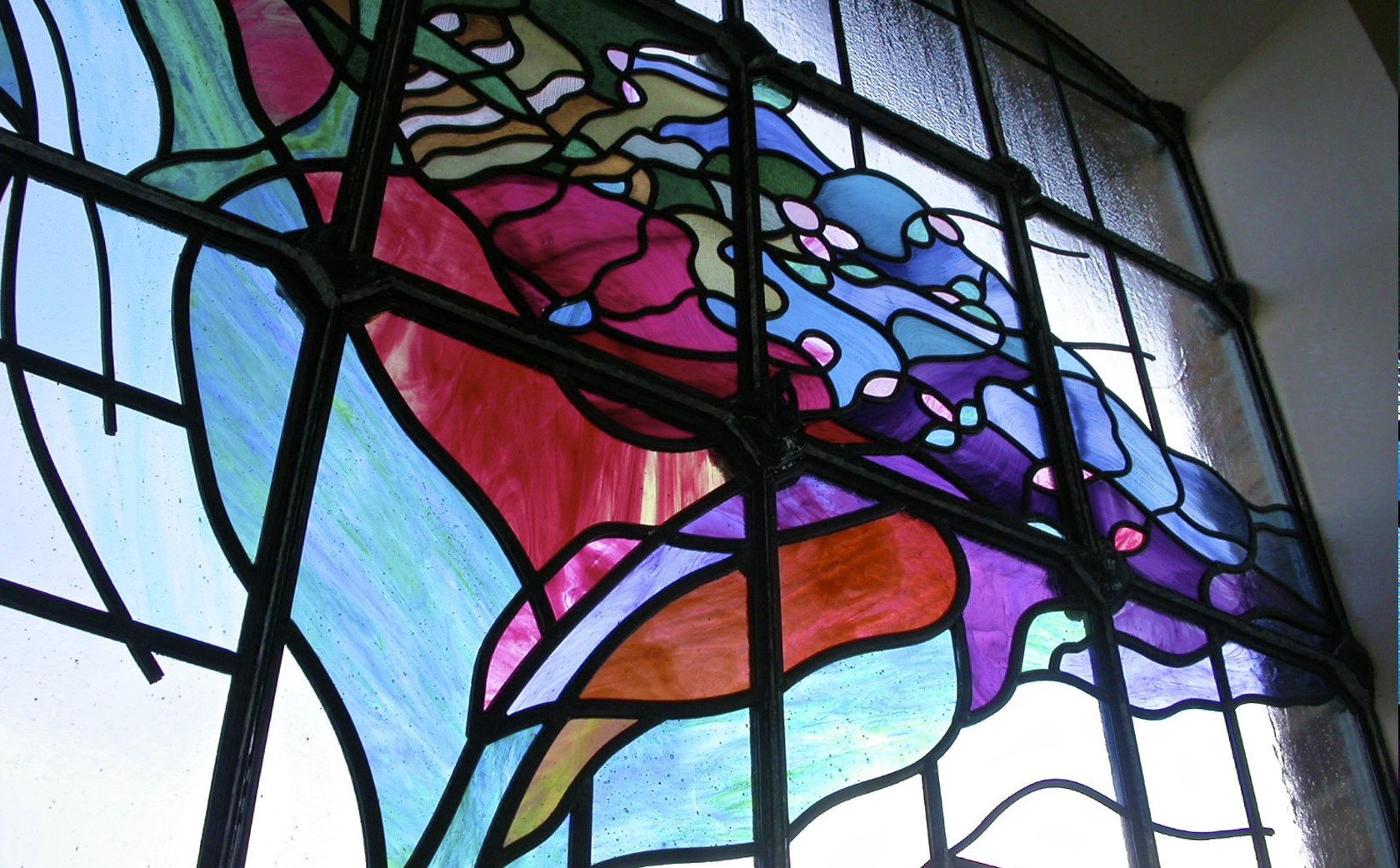 Floral Stained Glass window