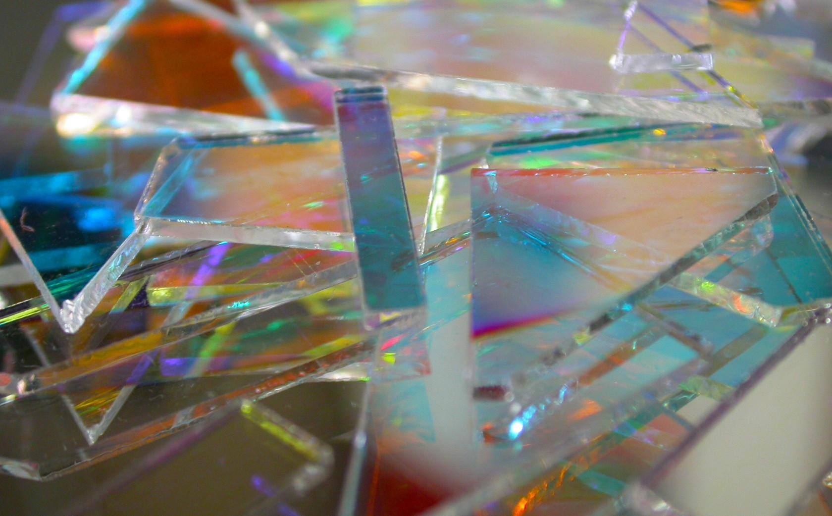 Dichroic Glass Fragments.