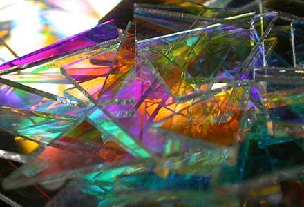 Bespoke Glass Art 'Fragmented Light'