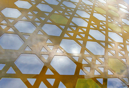 designer glass screens 'Islamic'