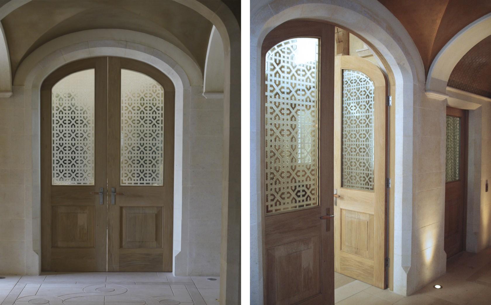 Islamic Glass Art screens to the Gland Salon