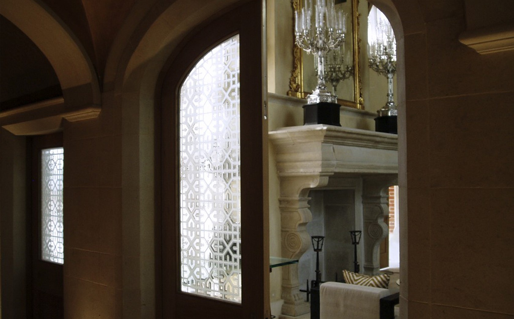 Islamic screens to the Gland Salon in Manor House