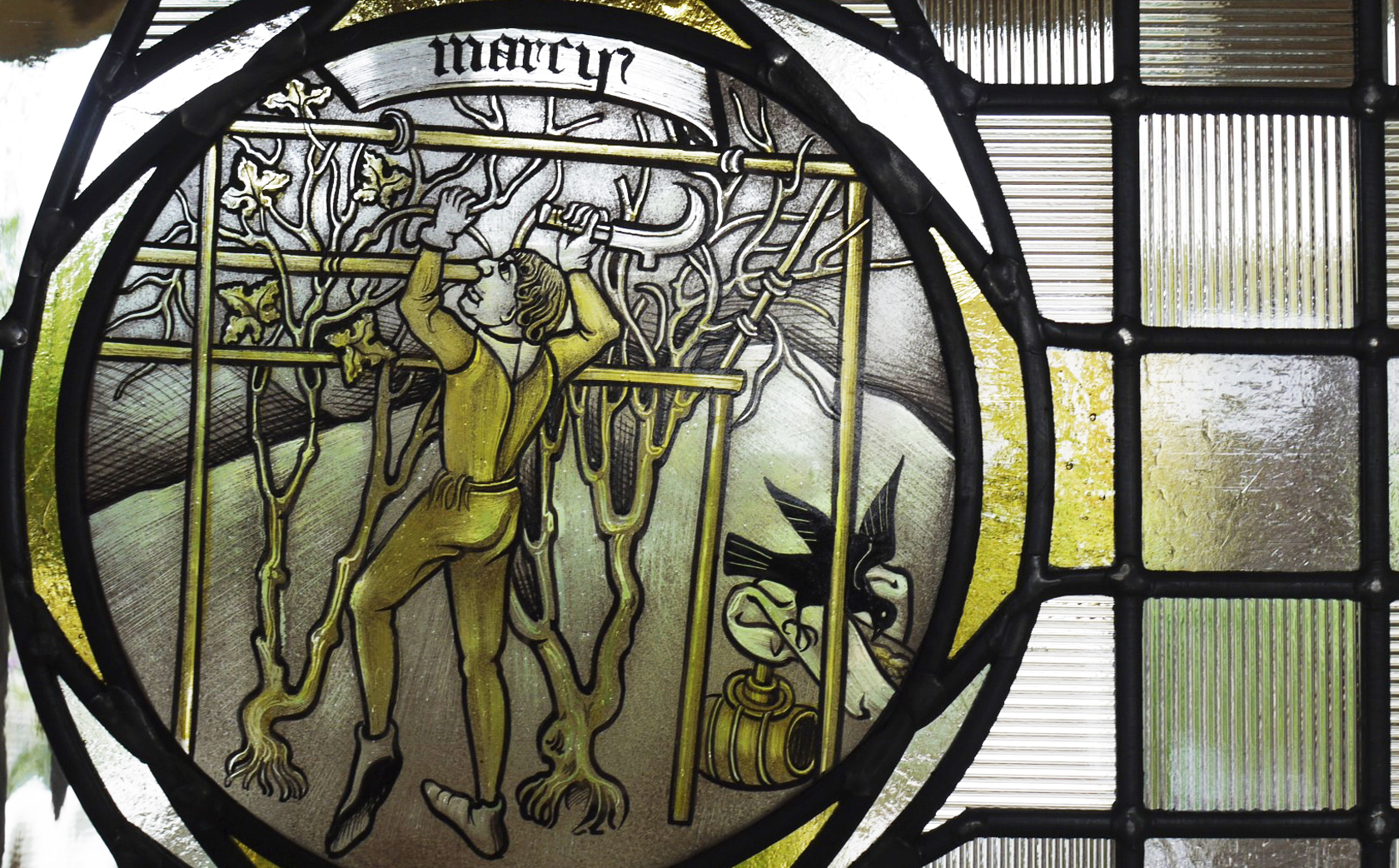 March Labour of the Month - hand painted 15th Century roundel interpretation