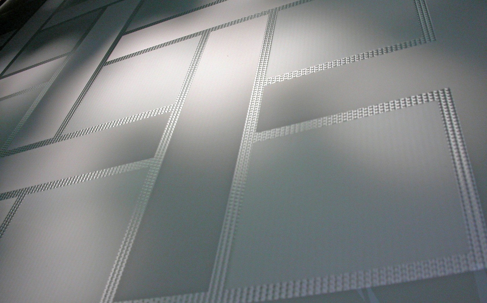 Monochrome designer glass screens