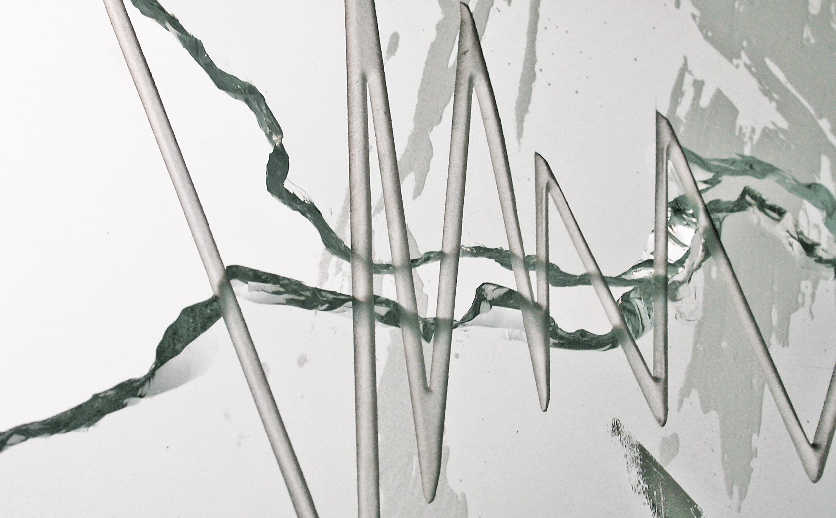 'Stitch' glass art- section.