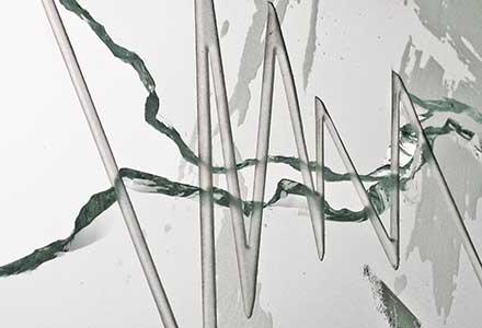 Fractured glass art