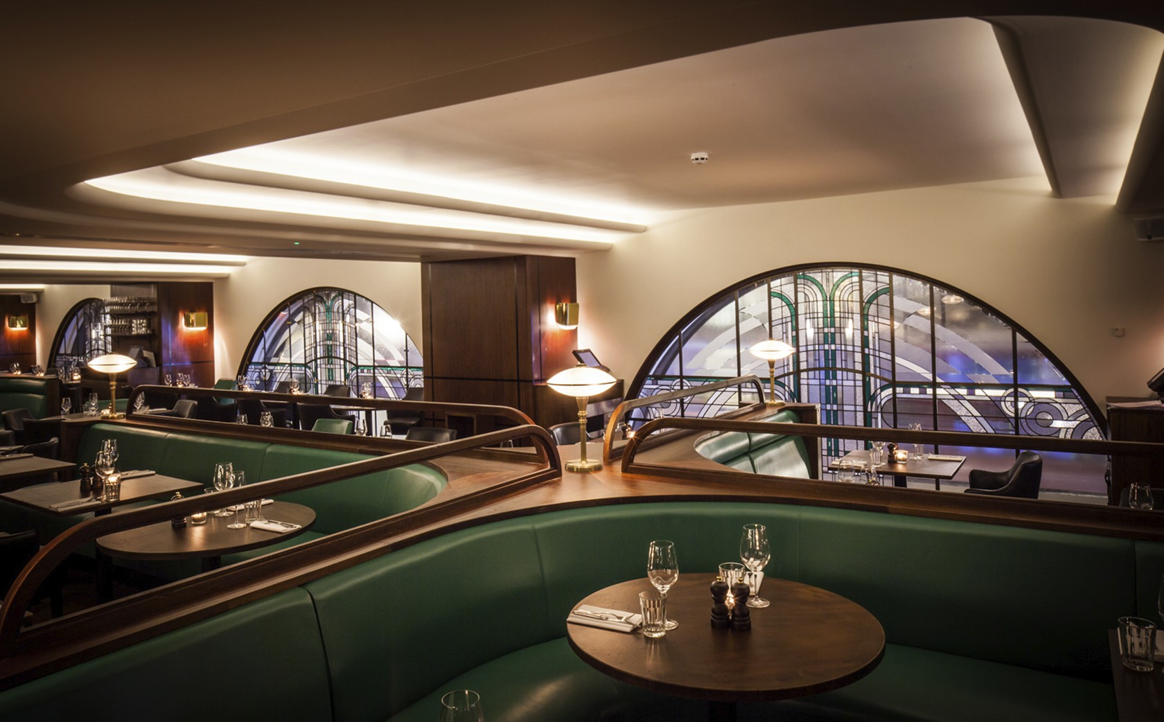 Art Deco Stained Glass - Hawksmoor Restaurant PIccadilly London