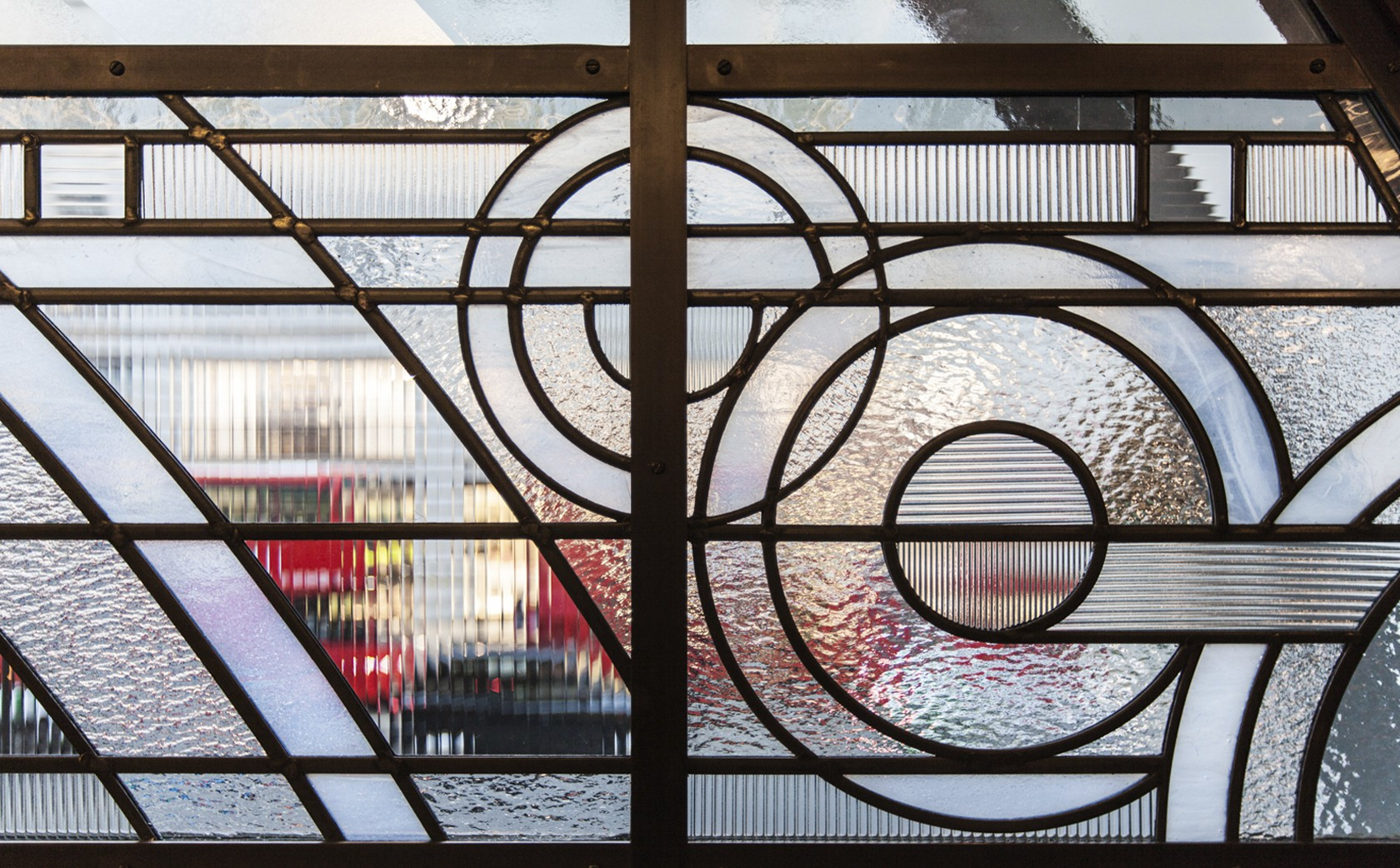 Art Deco Stained Glass - Hawksmoor Restaurant PIccadilly London - section