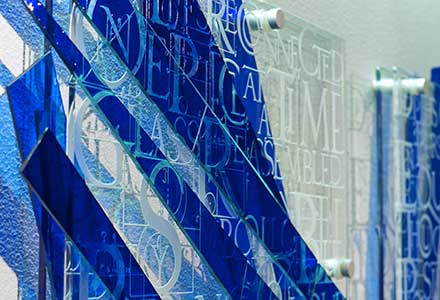 wall glass sculpture – Fragments of Blue