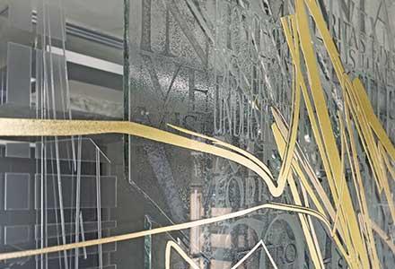 Architectural Glass Art installation