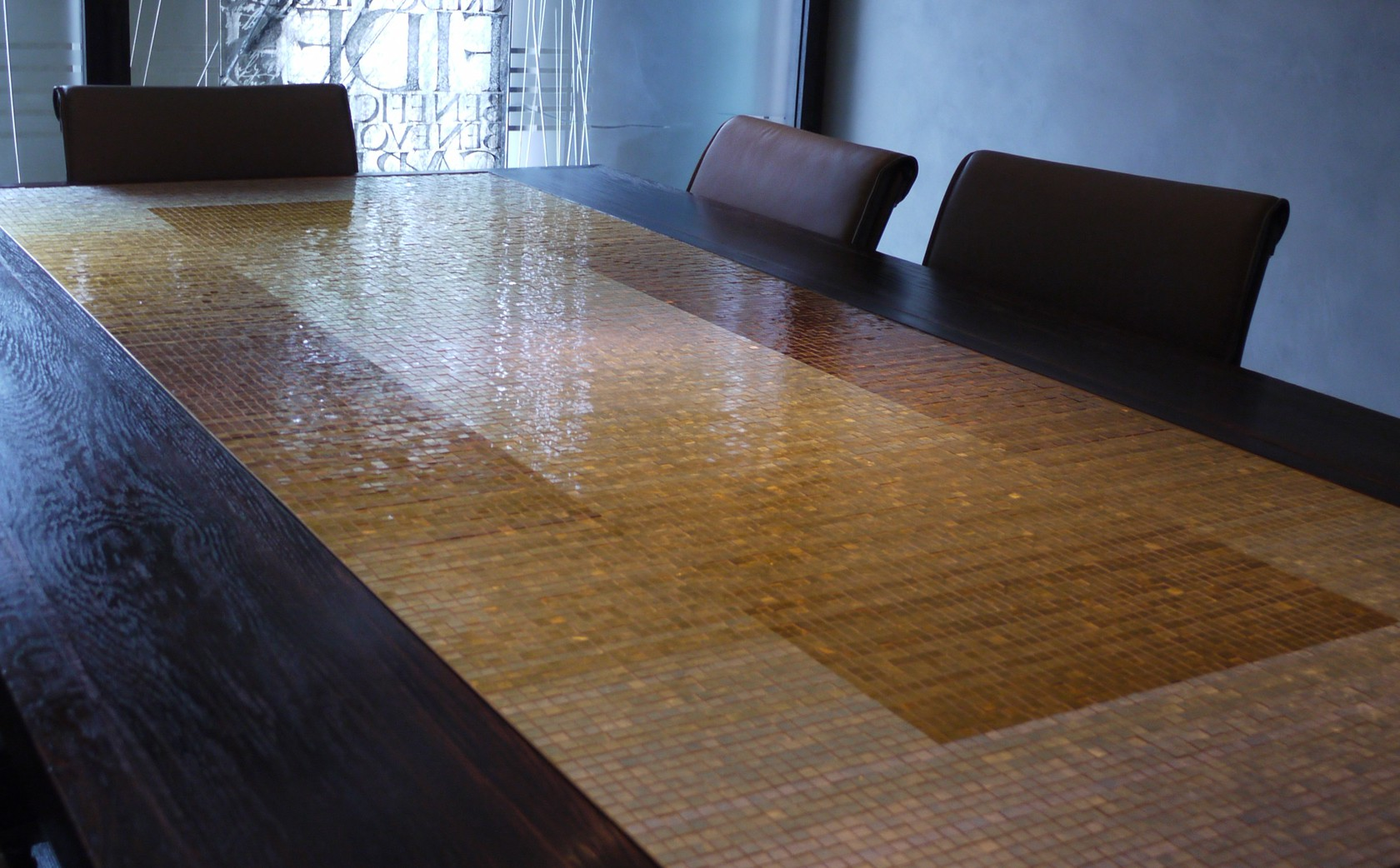 Previous mosaic - Boardroom table top