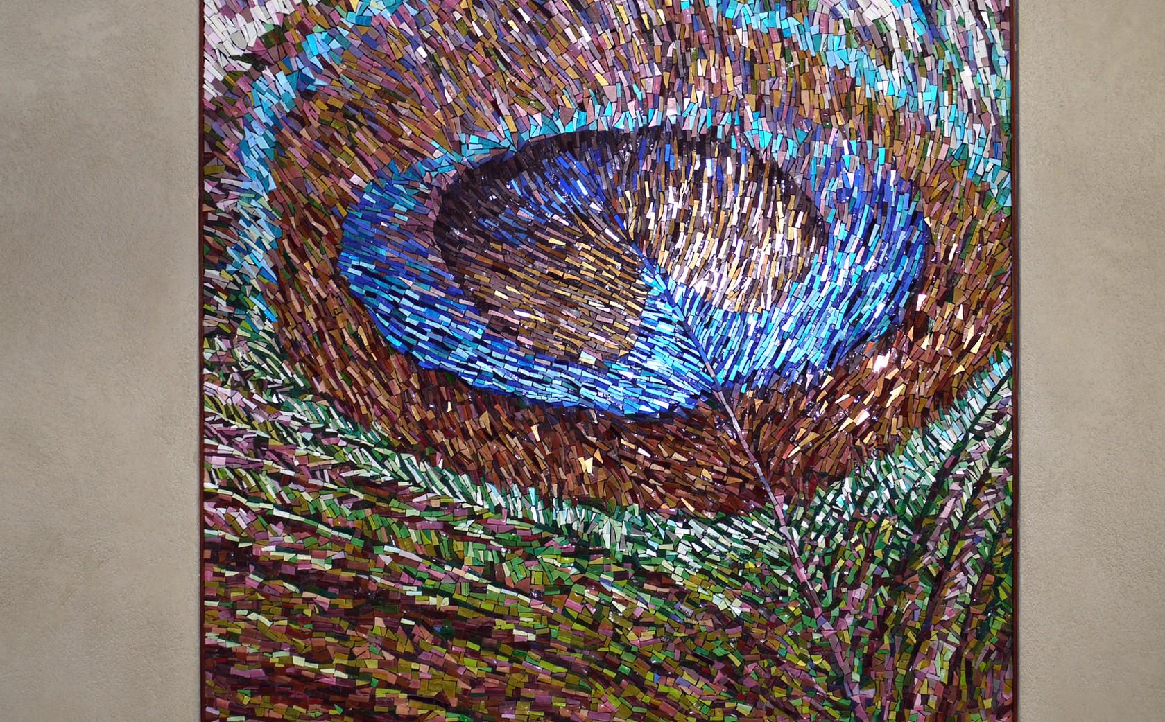 Peacock Feather Mosaic 1 x 1 metres