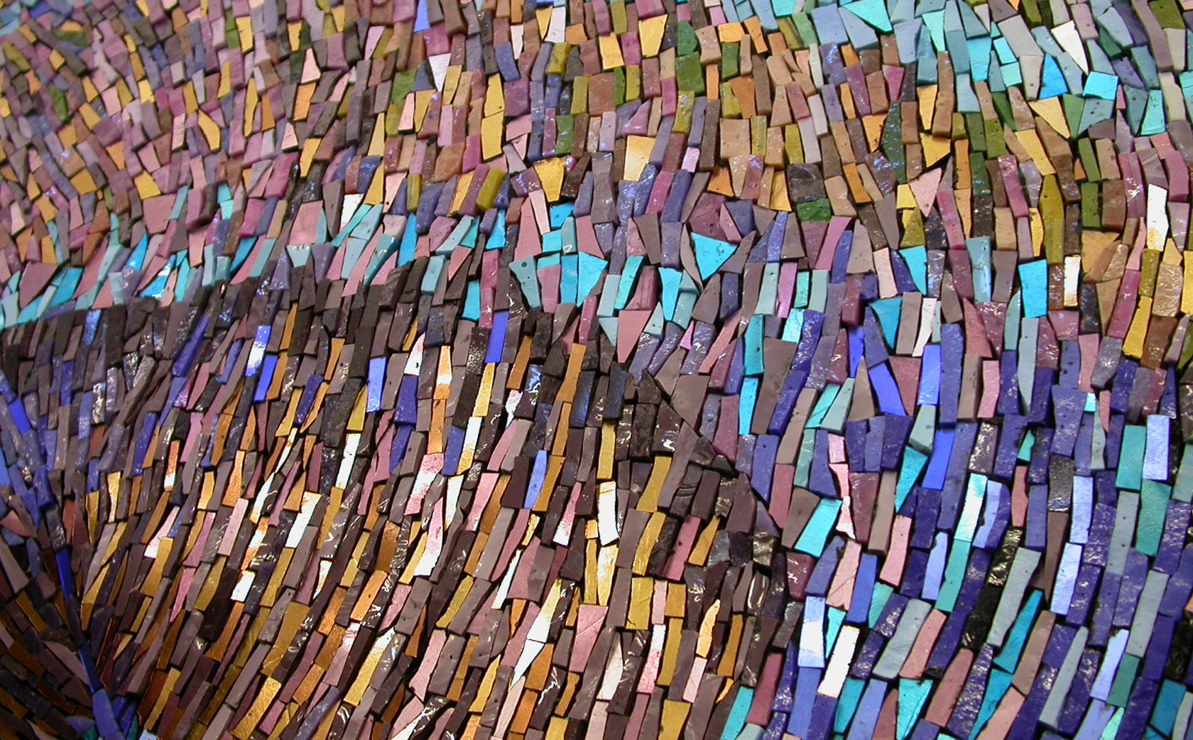 Textural Qualities Feather mosaic