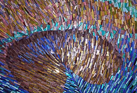 Peacock Feather Mosaic