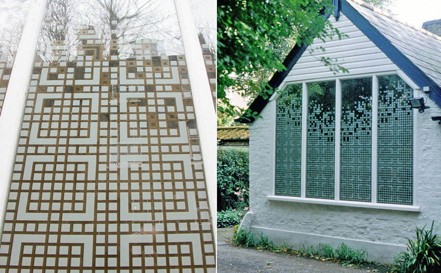 Bespoke glass screening defined by privacy issues and natural light control - outside
